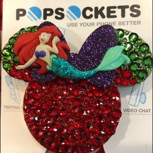 Phone Popsocket little mermaid insprd w/Swarovski